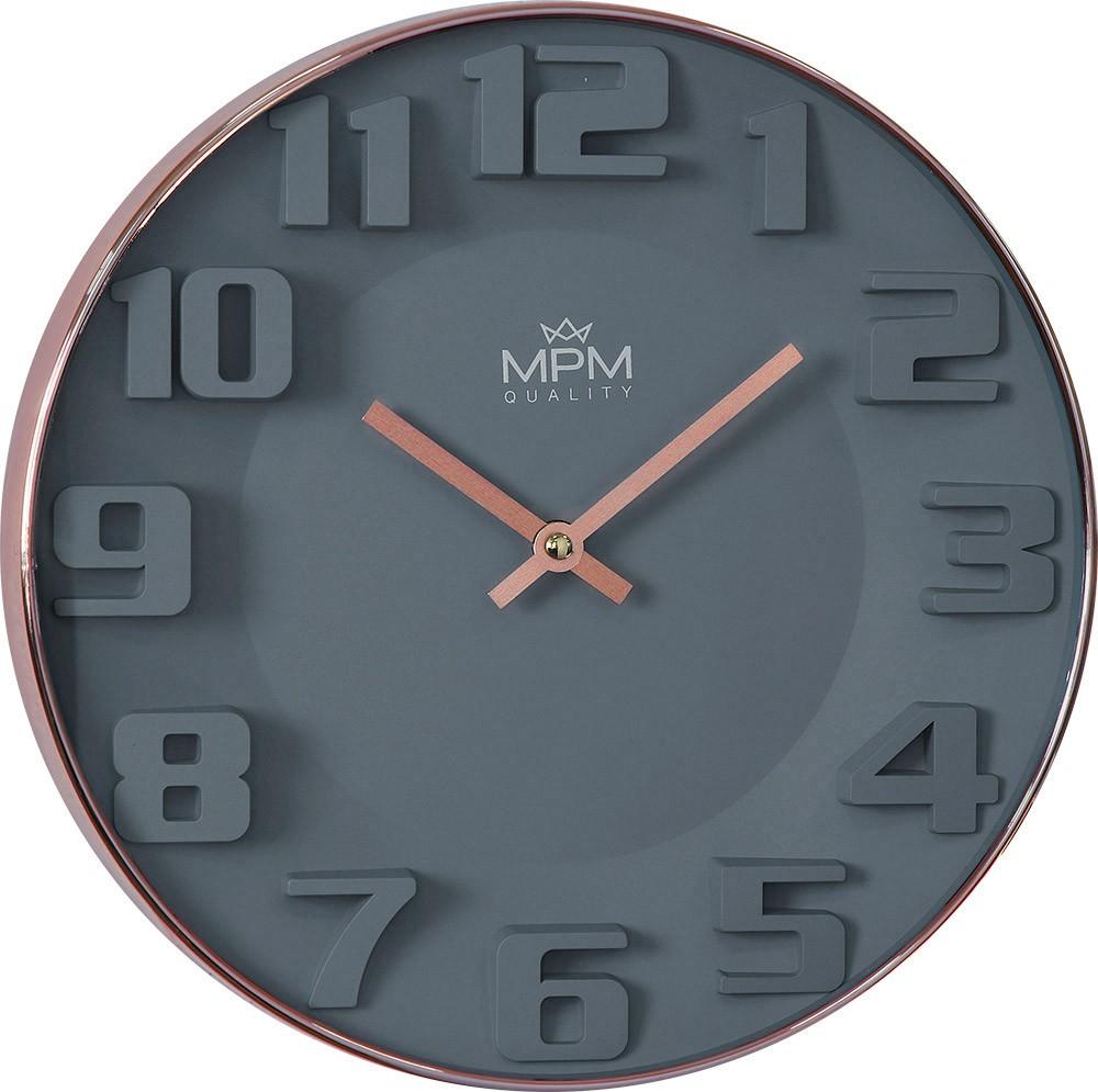 MPM Moderní šedé IProse hodiny MPM Rose - E01.3900