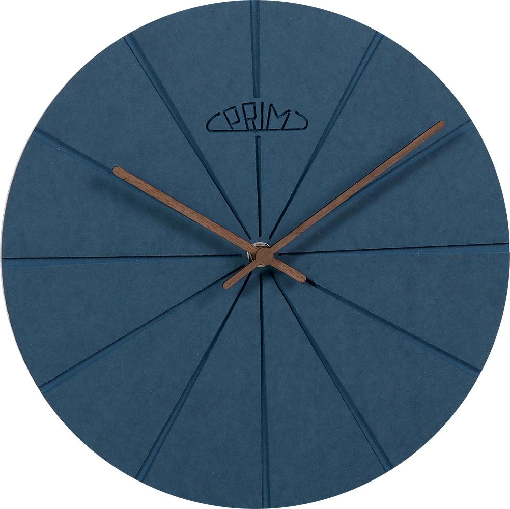 PRIM Modré dřevěné nástěnné hodiny PRIM Design I E01P.3872.30