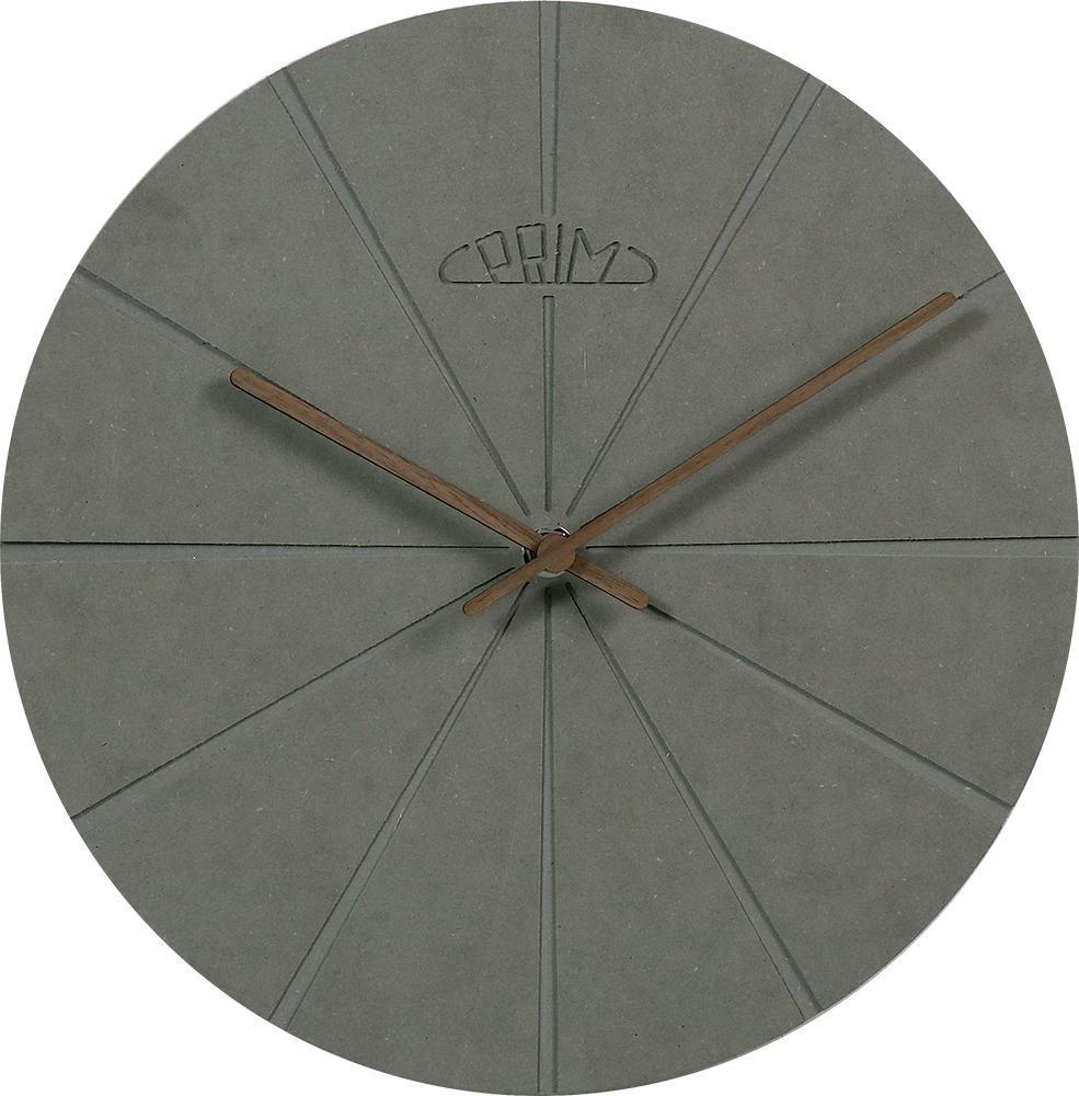 PRIM Šedé kulaté dřevěné nástěnné hodiny PRIM Design II E01P.3872.92