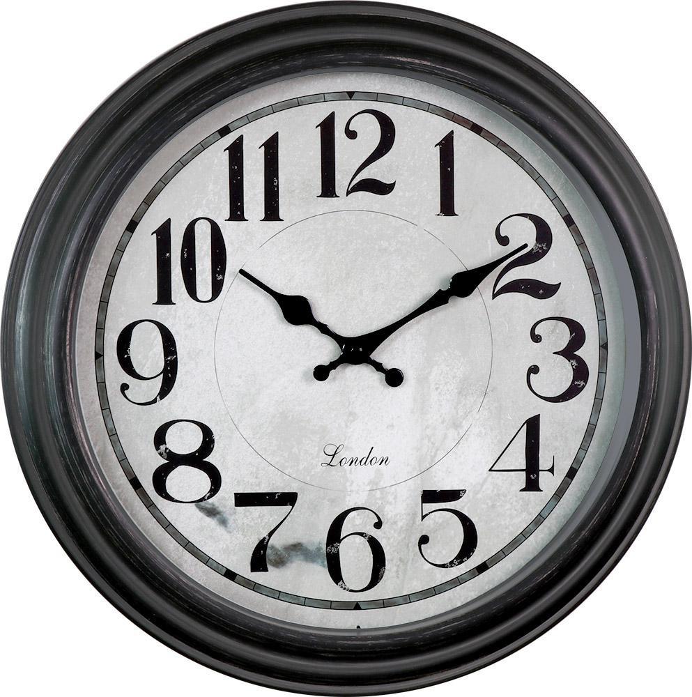 MPM Kulaté černé retro hodiny MPM E01.3884