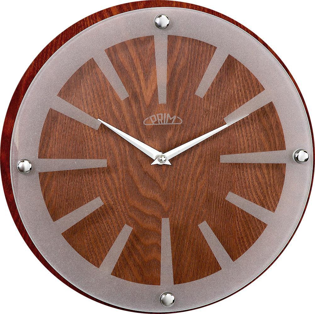 PRIM Nástěnné hodiny PRIM Wood Singular II E07P.3952.52