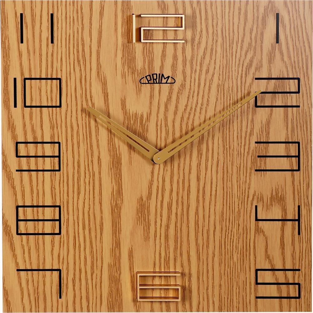MPM Nástěnné hodiny PRIM Wood Touch I E07P.3954.51