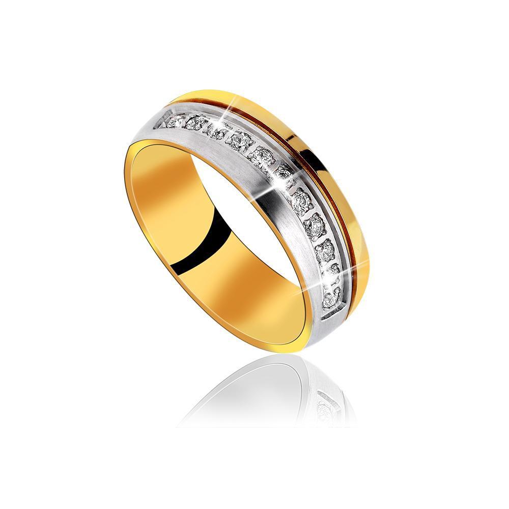 MPM Snubní ocelový prsten z chirurgické oceli Weddingring 70131 A - size 56