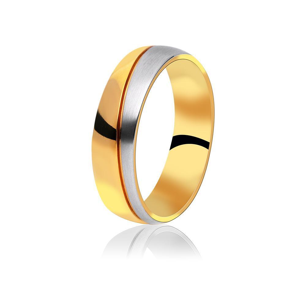 MPM Snubní ocelový prsten z chirurgické oceli Wedding ring 70131 B - size 69
