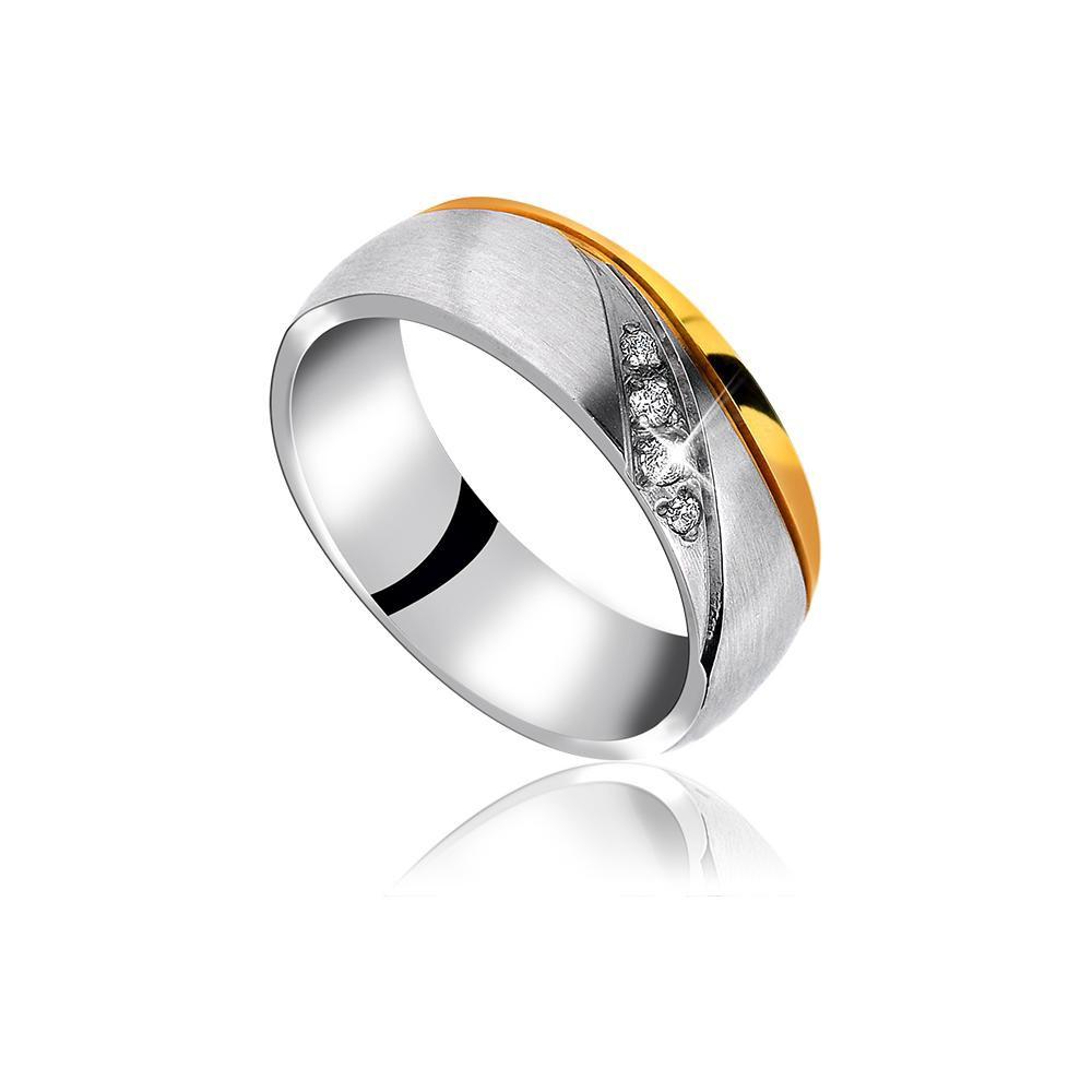 MPM Snubní ocelový prsten z chirurgické oceli Wedding ring 70132 A - size 57