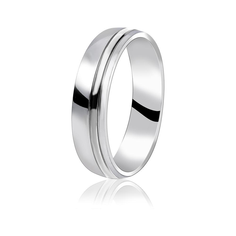 MPM Snubní ocelový prsten z chirurgické oceli Wedding ring 70129 B - size 62