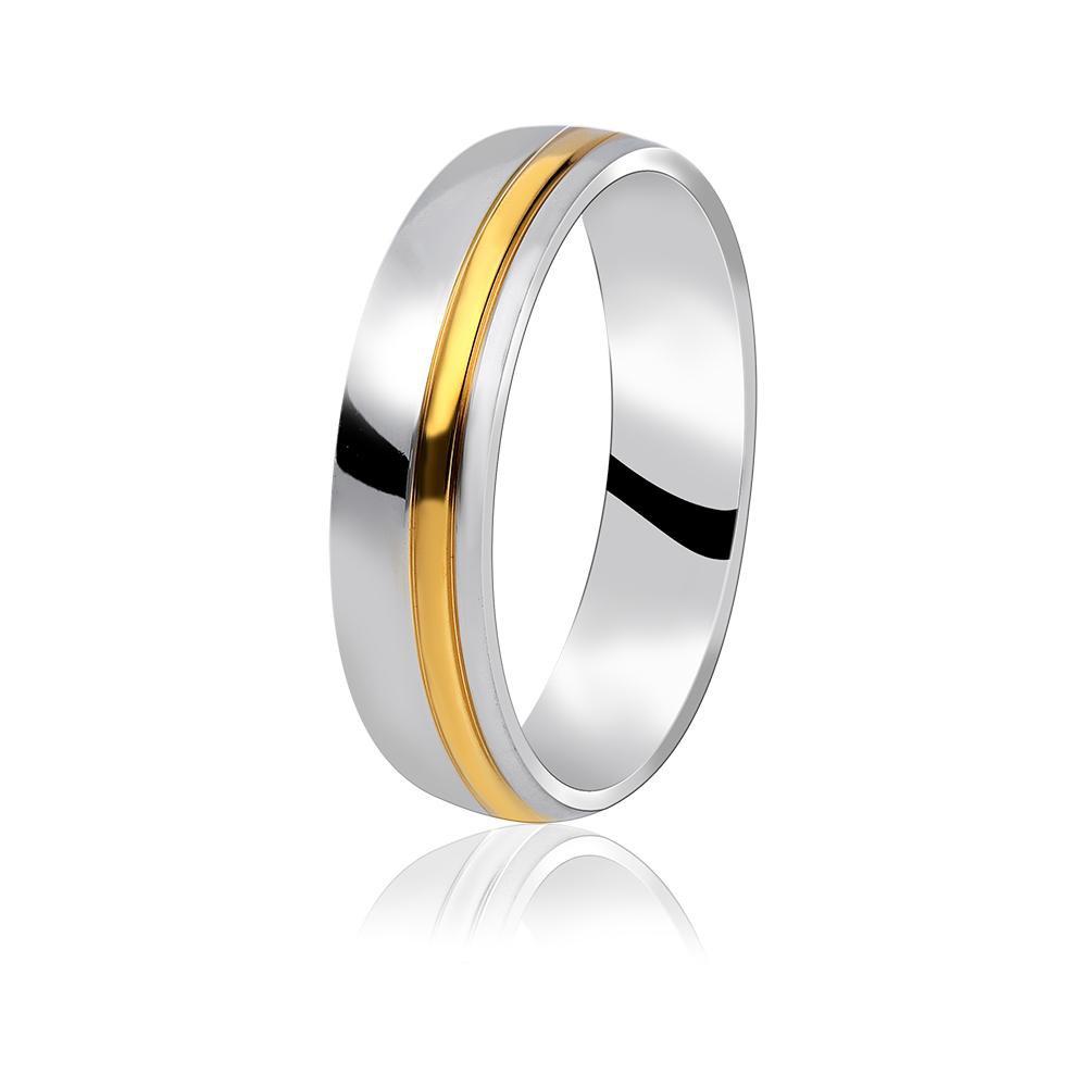 MPM Snubní ocelový prsten z chirurgické oceli Wedding ring 70130 B - size 74