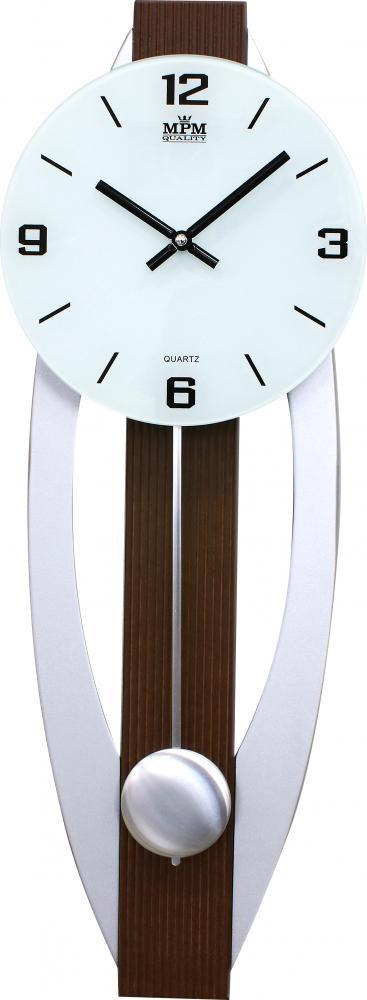 MPM nástěnné dřevěné kulaté hodiny MPM E07.3715
