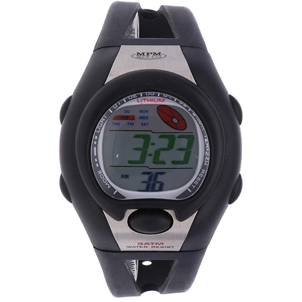 MPM Černé digitální hodinky MPM 314-J249M (č)