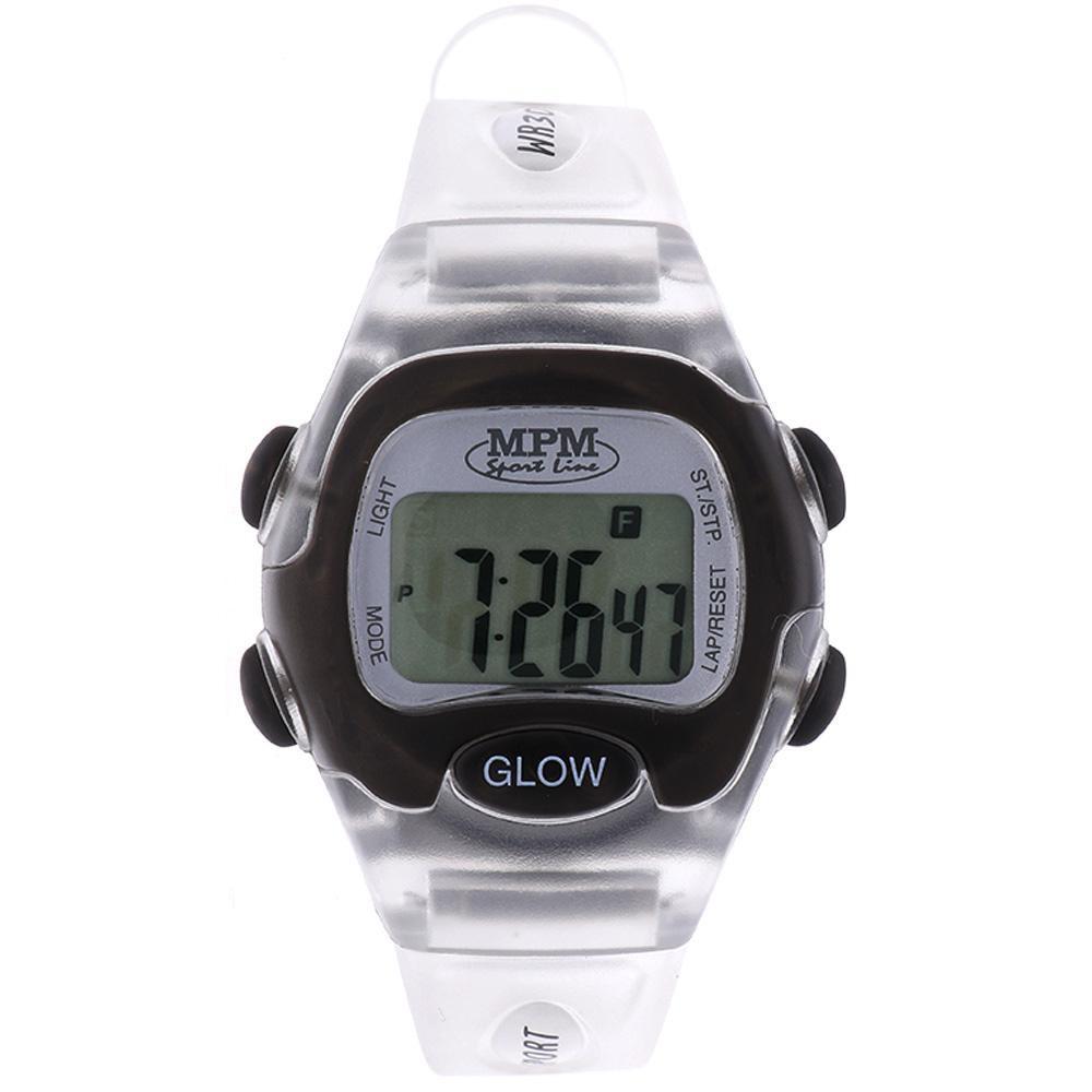 MPM Bílo černé digitální hodinky MPM 57-D61327LTT102001