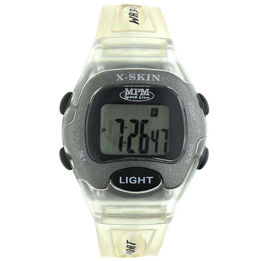MPM Bílé digitální hodinky MPM 51-D61326GTTE01003