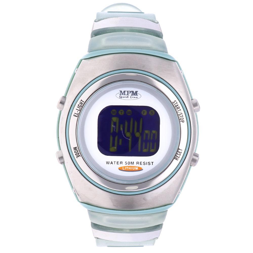 MPM Bílé digitální hodinky MPM 42-D61369G5ZU0Z001