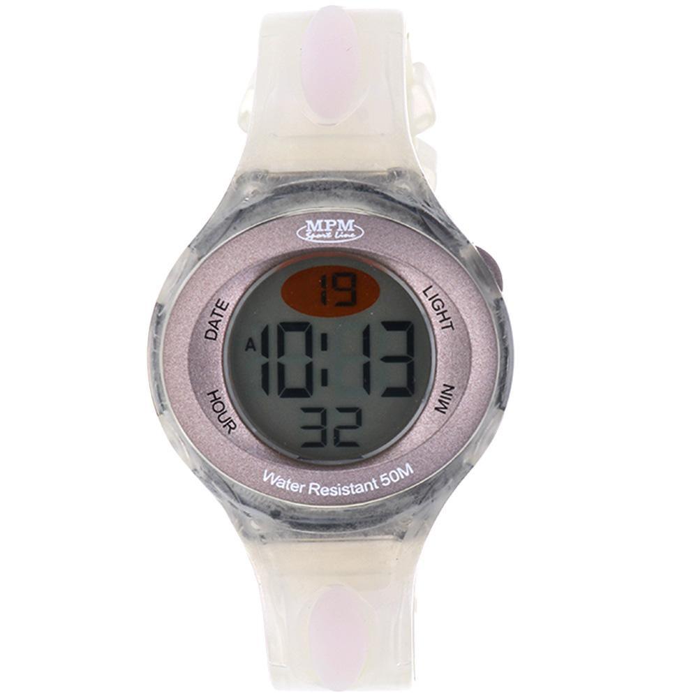 MPM Bílé digitální hodinky MPM 397-ES04233 (white)