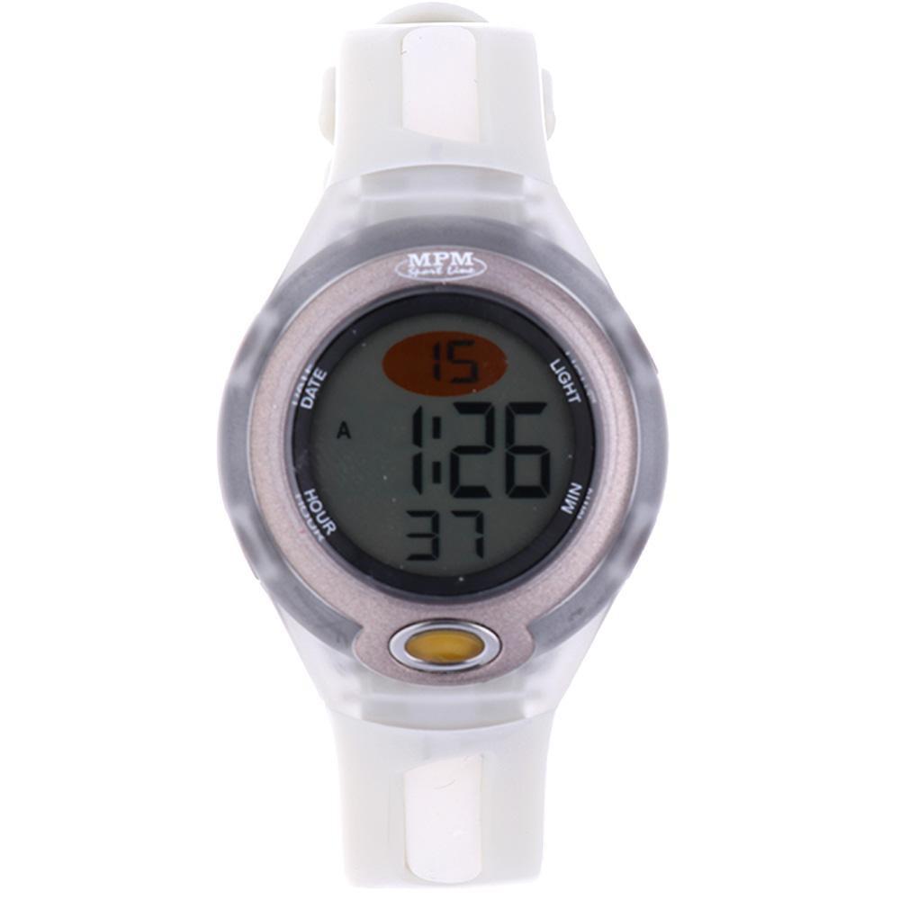 MPM Bílé digitální hodinky MPM 392-ES04234 (white)
