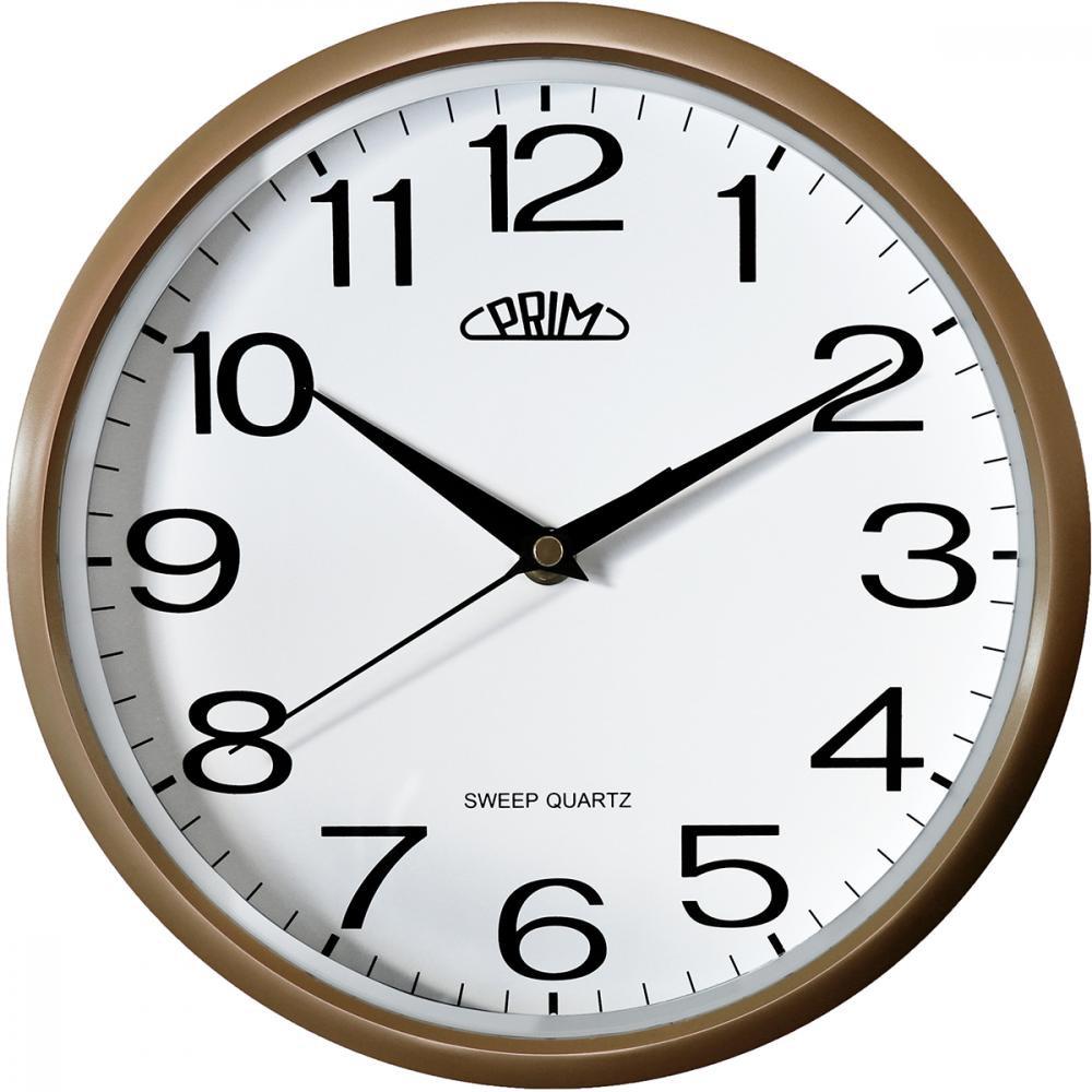 PRIM Netikající tiché sweep zlaté hodiny PRIM Linea - 3988 white