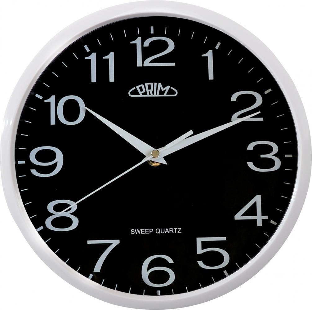 PRIM Netikající tiché sweep černé hodiny PRIM Linea - 3988 black