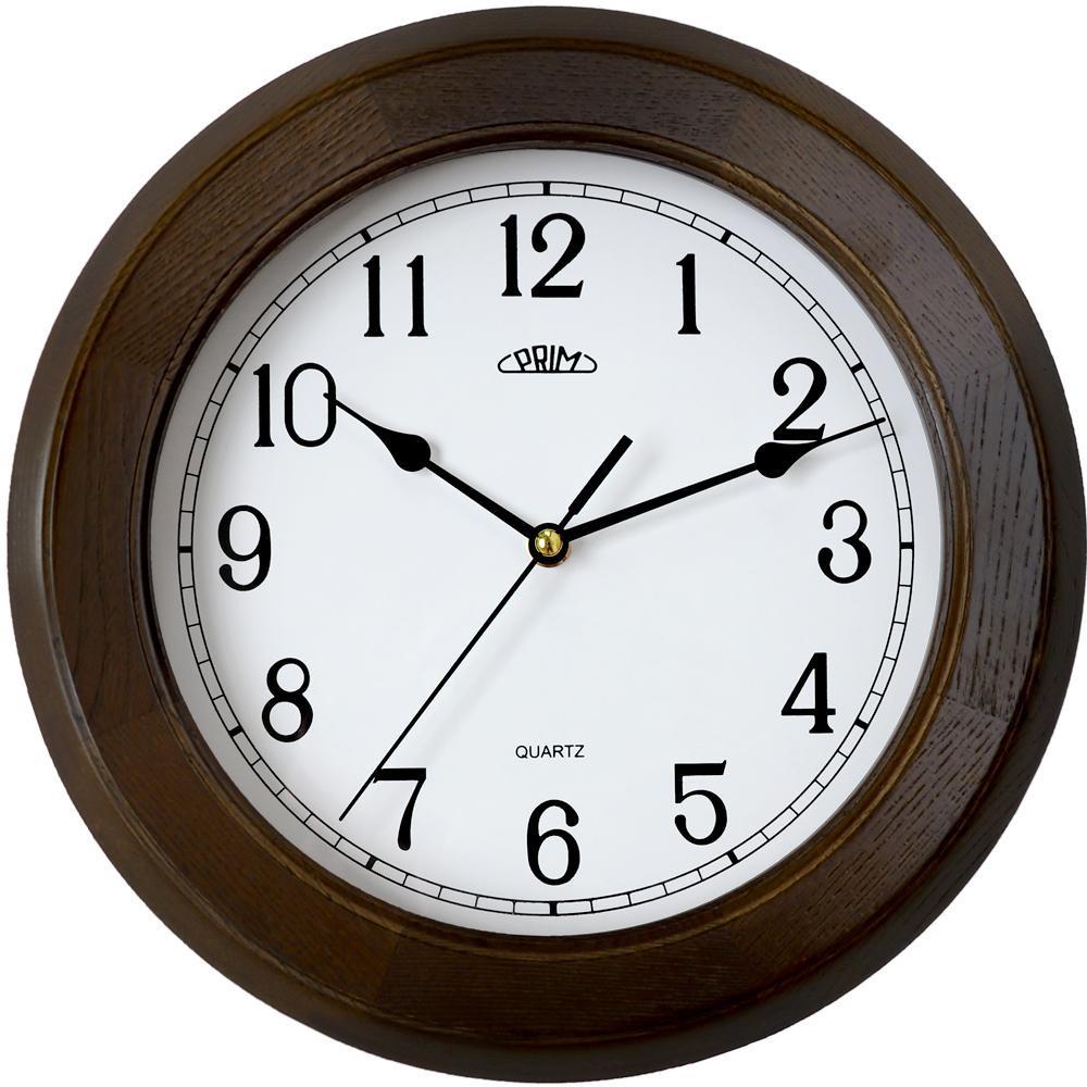 MPM nástěnné dřevěné kulaté hodiny MPM E07P.3974.50