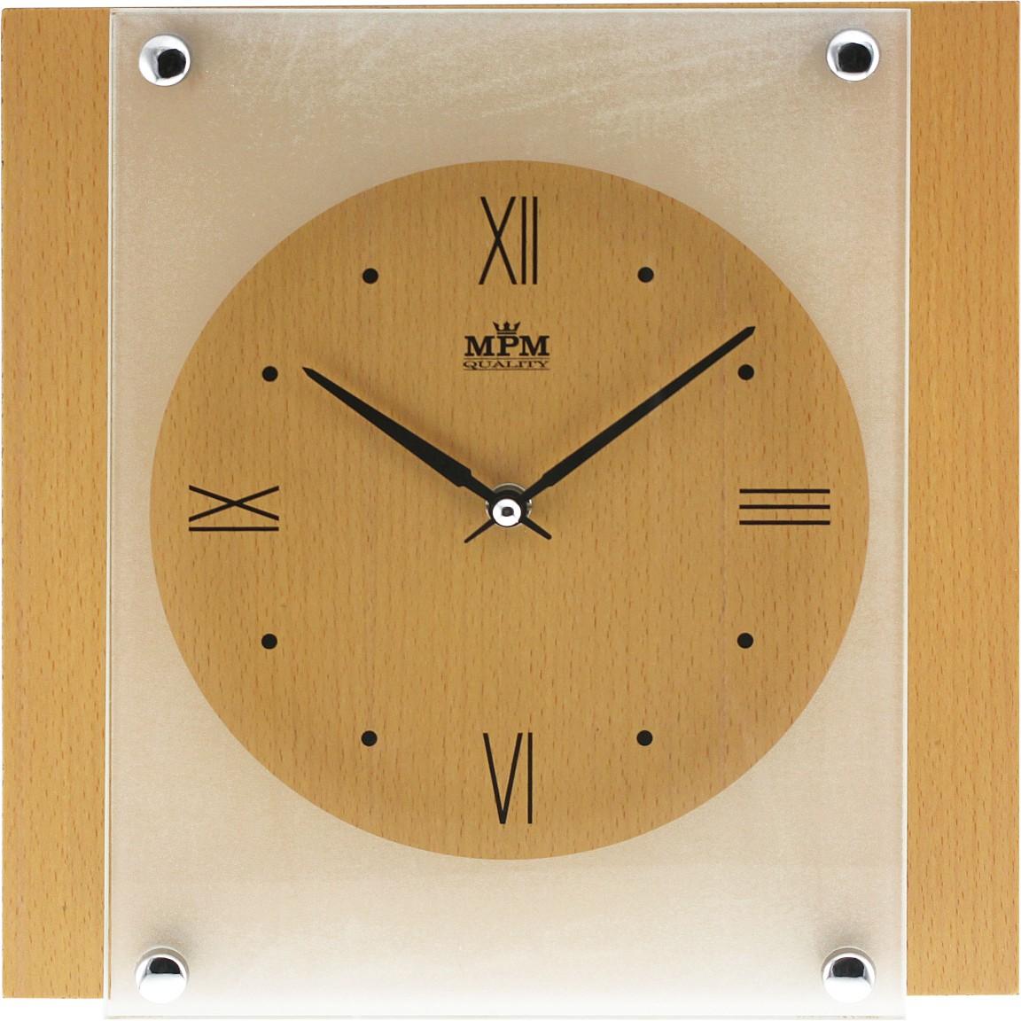 MPM Dřevěné nástěnné hodiny MPM E07.2706