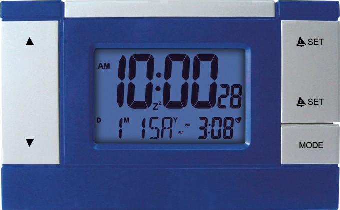 MPM Modrý digitální budík řízený rádiem MPM C02.2624