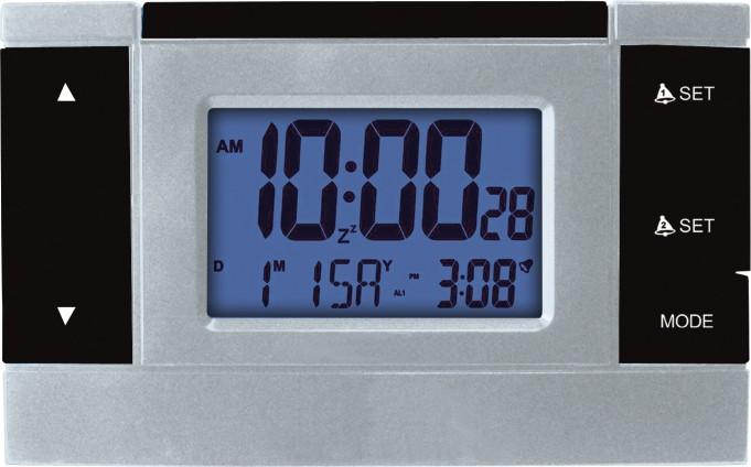 MPM Černý digitální budík řízený rádiem MPM C02.2624