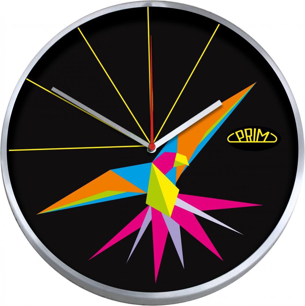 PRIM Nástěnné kulaté hodiny ARARA E04.2965