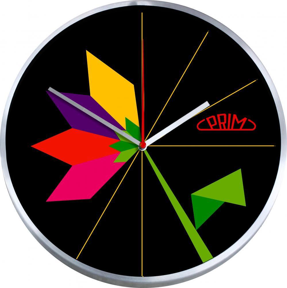 PRIM Nástěnné kulaté hodiny FLOWER E04.2967