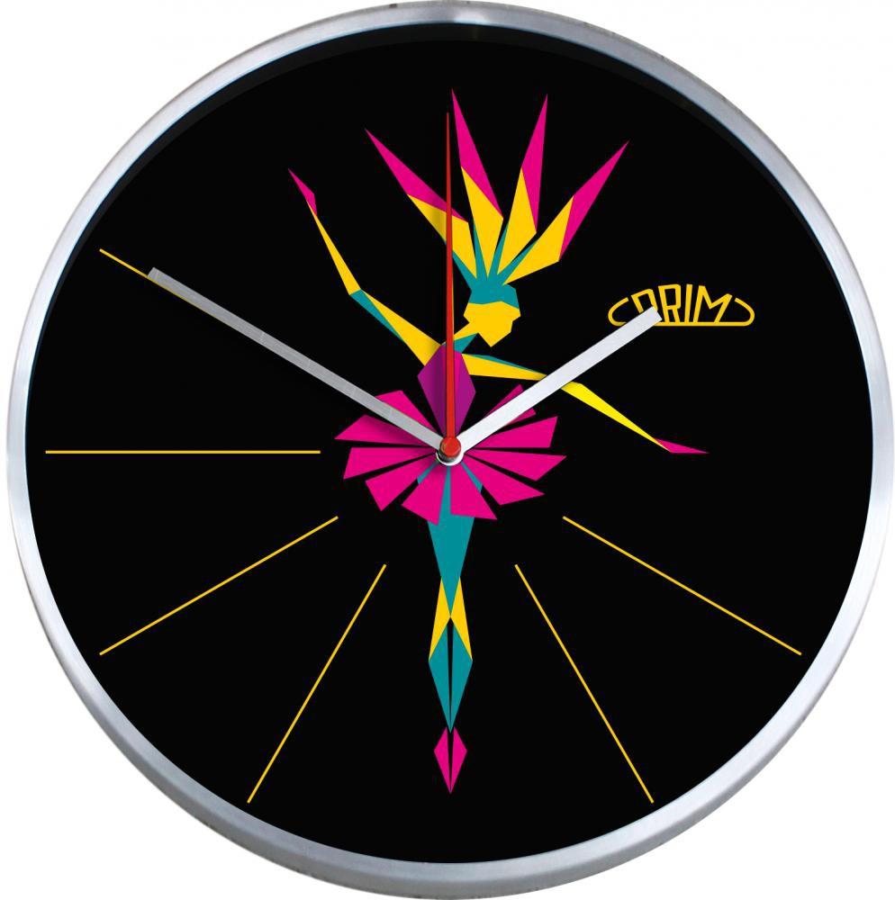 PRIM Nástěnné kulaté moderní hodiny BALLERINA E04.2966